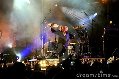 Simple Minds concert in Florence Editorial Image