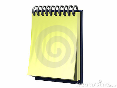 Simple model of a note pad