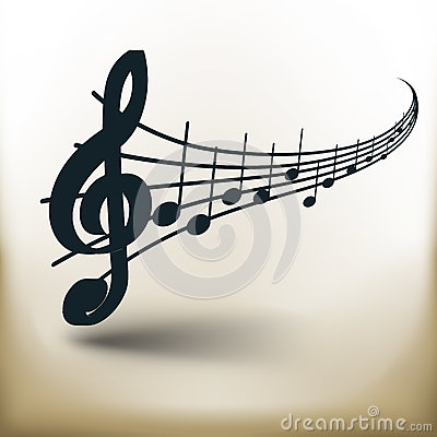 Simple music notes Vector Illustration