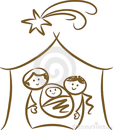 Clipart Baby Jesus Nativity