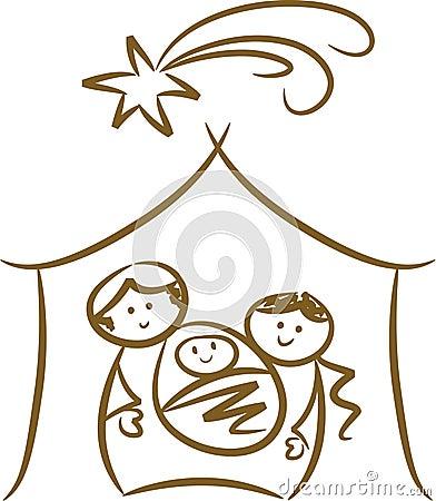 Simple Nativity Scene Stock Photo - Image: 10987170