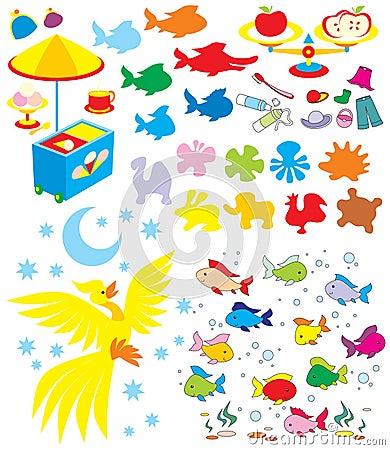 Simple objects for kindergarten