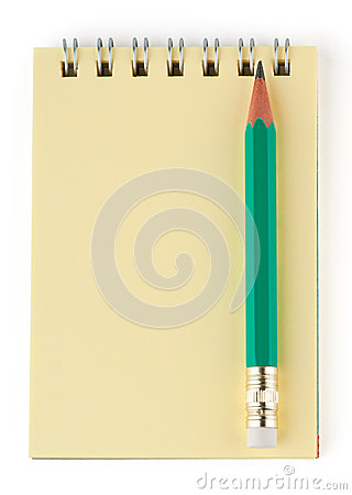 Simple pencil and notebook