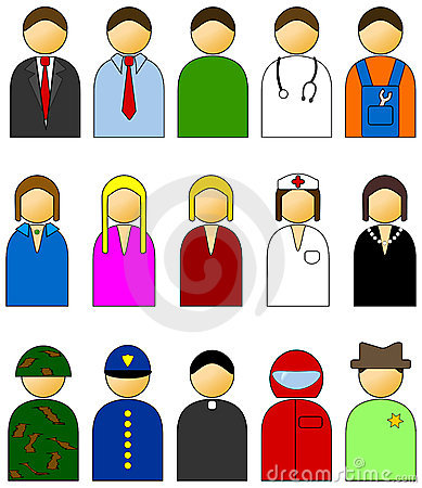 Simple People Vector Icons Stock Images - Image: 13574804