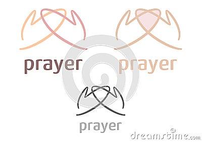 Simple prayer icon/logo