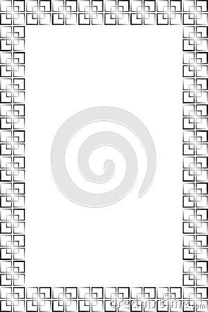 Simple rectangular frame - vector