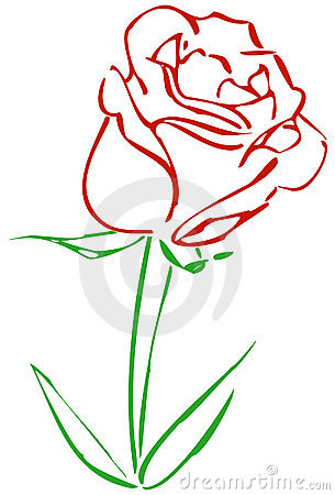 Simple Red Rose Royalty Free Stock Images Image 10907619