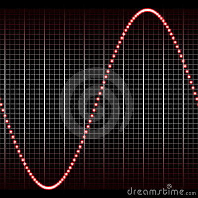 Simple red sound wave
