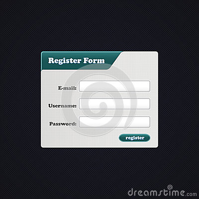 Simple Register Form. Vector Register form for you