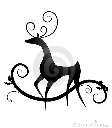 Simple Reindeer Silhouette