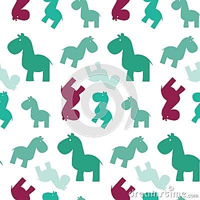 Simple seamless horse papttern