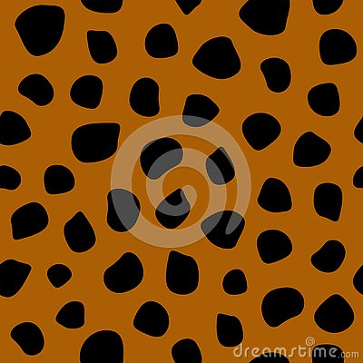 Simple seamless pattern with leopard print. Vector illustration. Vector Illustration