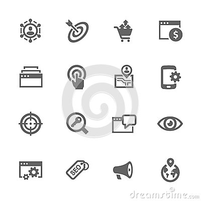 Free Simple SEO Icons Stock Images - 70744024