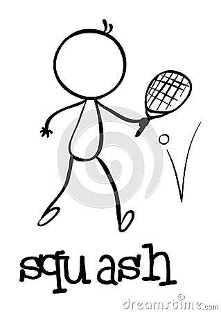 Simple sports figure