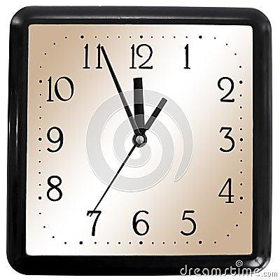 Simple square clock