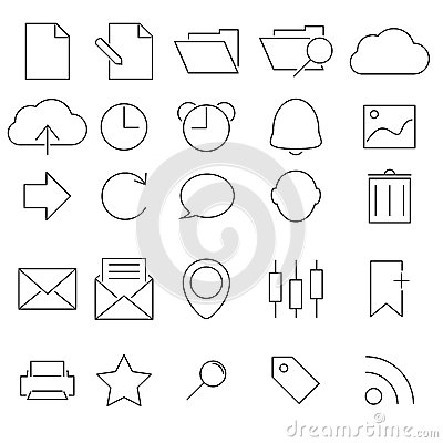Simple Stroked icon set