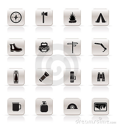 Simple Tourism and Holiday icons