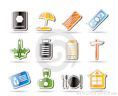 Simple Travel, Holiday and Trip Icons