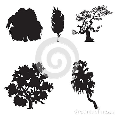 Simple Tree silhouettes