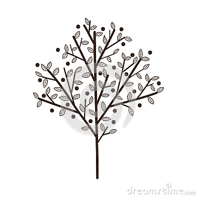 Free Simple Tree With Leaves. Royalty Free Stock Photo - 49002845