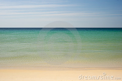 Simple tropical sea, sky and beach