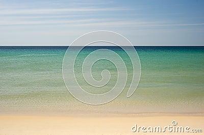 Simple tropical sea, sky and beach