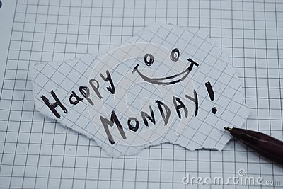 A simple and understandable caption of a happy monday Stock Photo