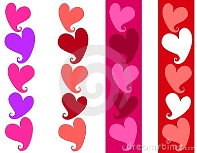 Simple Valentine Heart Borders
