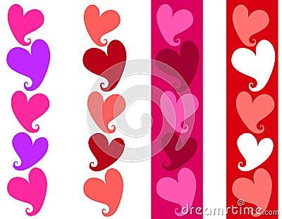 Simple Valentine Heart Borders