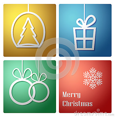 Simple vector christmas decoration card -vector