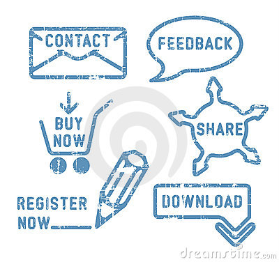 Simple vector contact, feedback, share, buy icons
