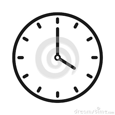 Clock icon Vector Illustration