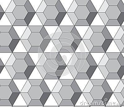 Simple Vector Pattern Hexagonal Diamonds Royalty Free