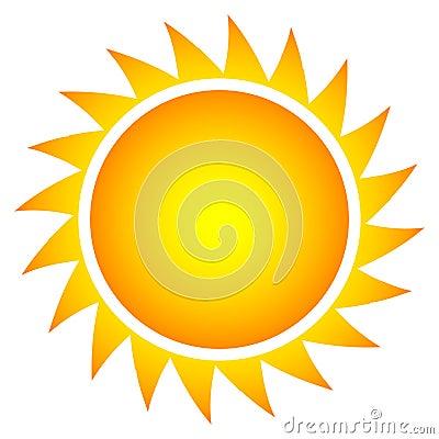 Simple vector sun