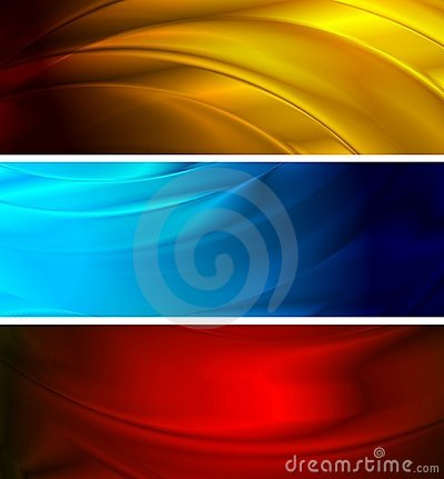Free Simple Wavy Banners (NO Gradient Mesh) Stock Images - 15907634