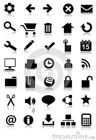 Simple web icon set application