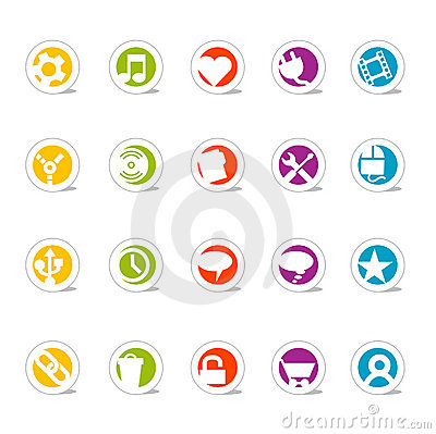 Free Simple Web Icons 2 (vector) Stock Photo - 2102800