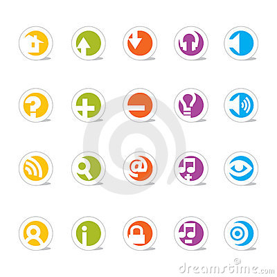 Free Simple Web Icons () Royalty Free Stock Photos - 2102758