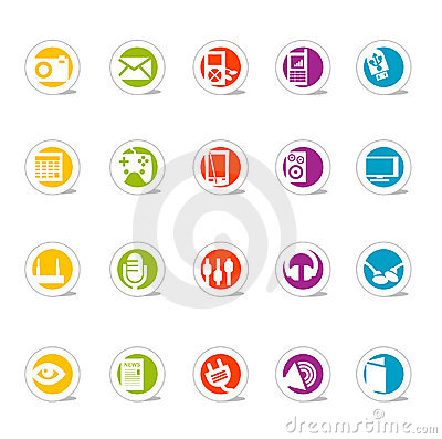 Simple Web Icons Media (Vector