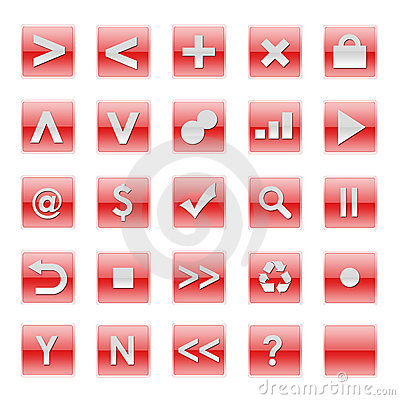 Simple Web Software Internet Buttons