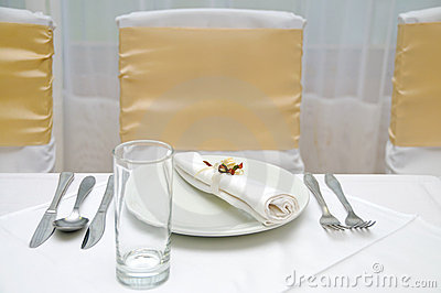 Simple wedding table