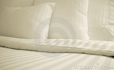 Simple White Bed