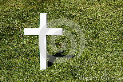Simple White Cross and Shadow