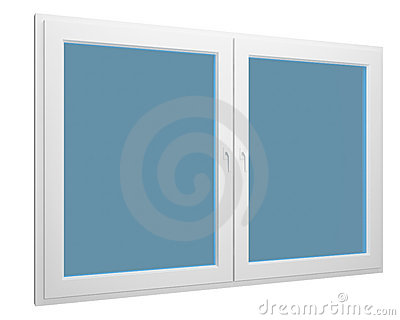 Simple window isolated over white