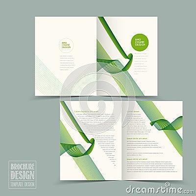 simplicity half fold brochure template design stock vector image 56335864. Black Bedroom Furniture Sets. Home Design Ideas