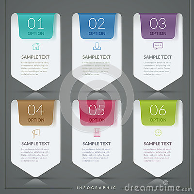 Simplicity infographic template Vector Illustration