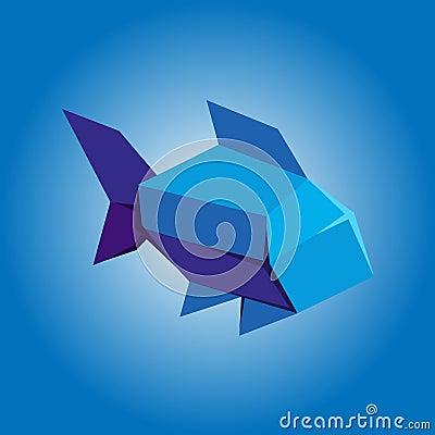 Simplistic origami fish