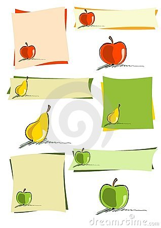 Simply fruit design elements Vector Illustration