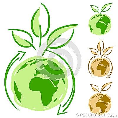 Simply green concept