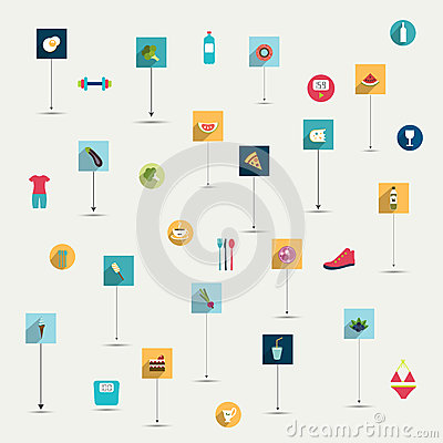 Free Simply Minimalistic Flat Food And Diet Symbol Icon Stock Photos - 40254613